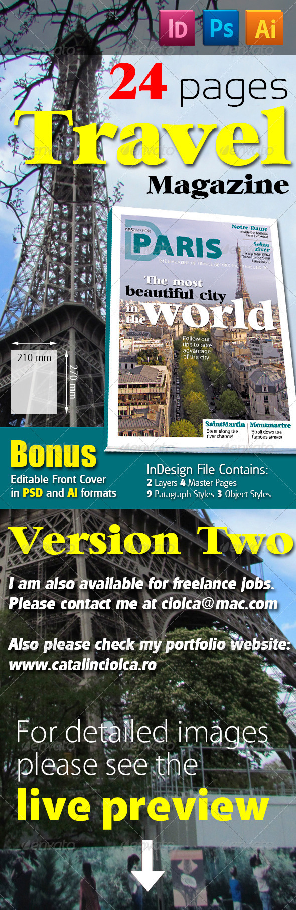 24 Pages Travel Magazine Version Two - Magazines Print Templates