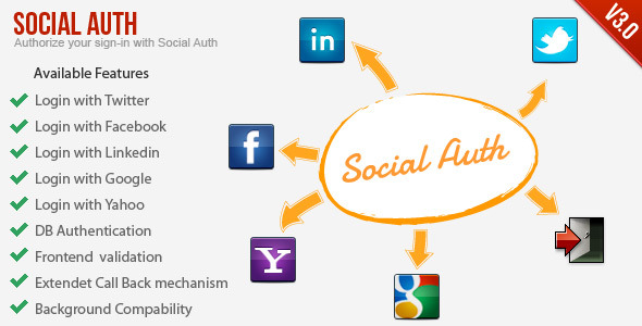 SocialAuth-Facebook+Twitter+Linkedin+Google Login - CodeCanyon Item for Sale