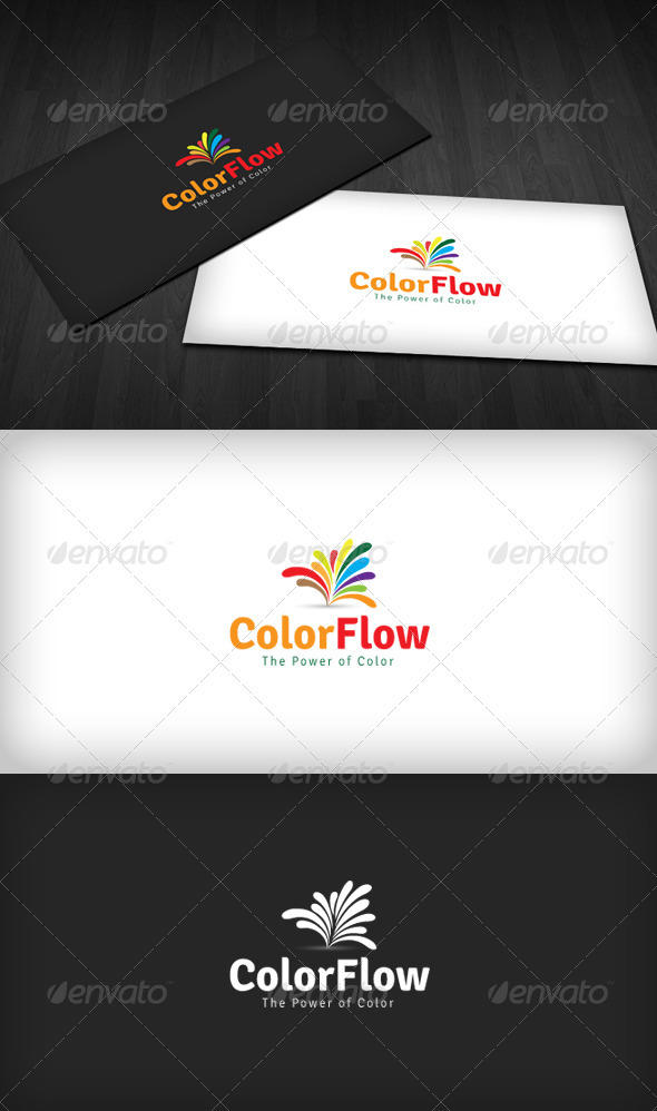 Color Flow Logo - Vector Abstract