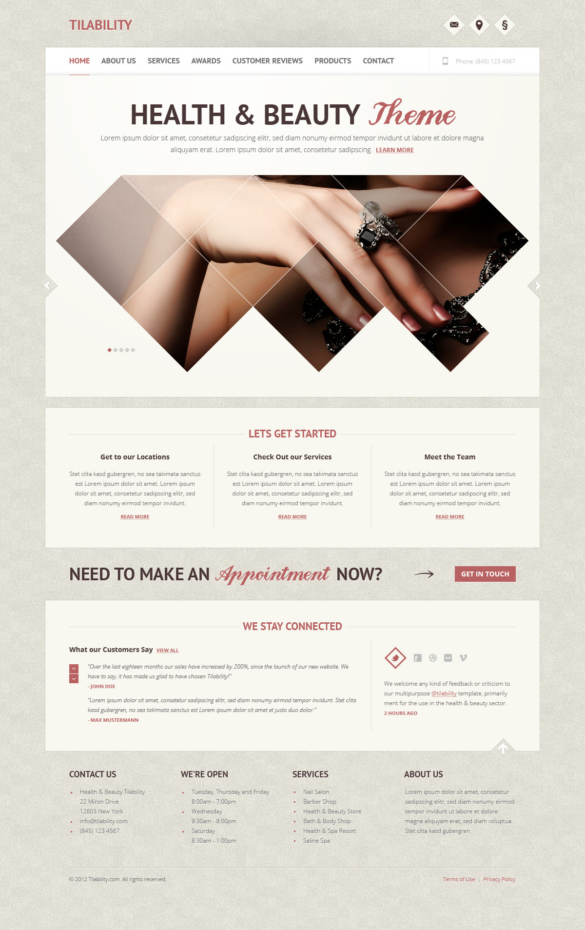 Tilability | Health & Beauty PSD Template