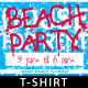 Beach Party Themed Island Resort T-shirt Design - GraphicRiver Item for Sale
