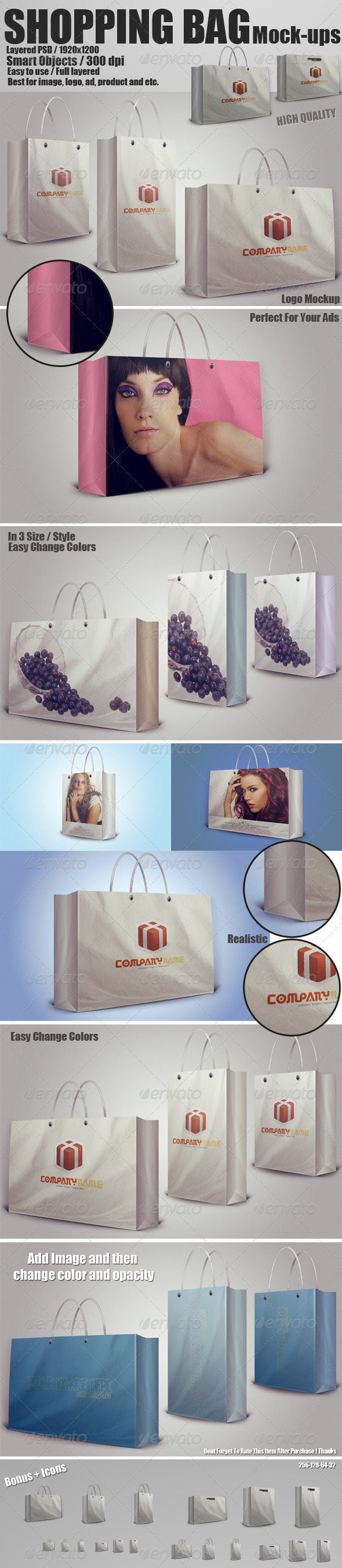 Shopping Bag Mockups PSD - Miscellaneous Packaging