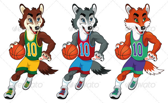 Basketball Mascots - Sports/Activity Conceptual