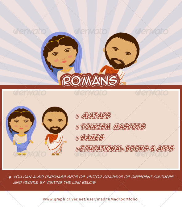 Roman Couple - People Characters