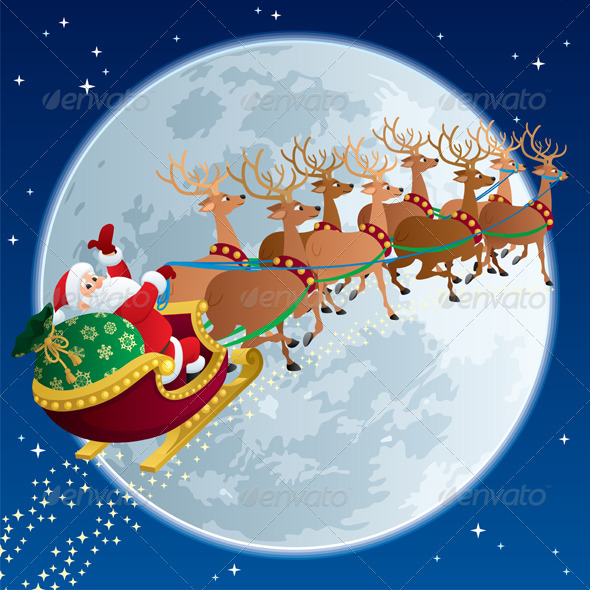Santa Sleigh 2 - Christmas Seasons/Holidays
