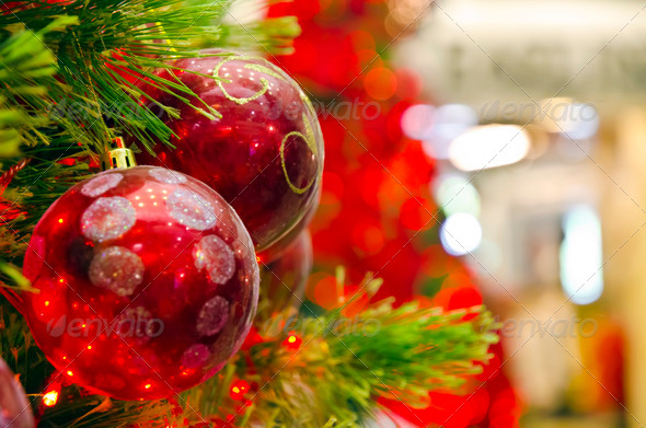 Christmas Ornament on a tree - Stock Photo - Images