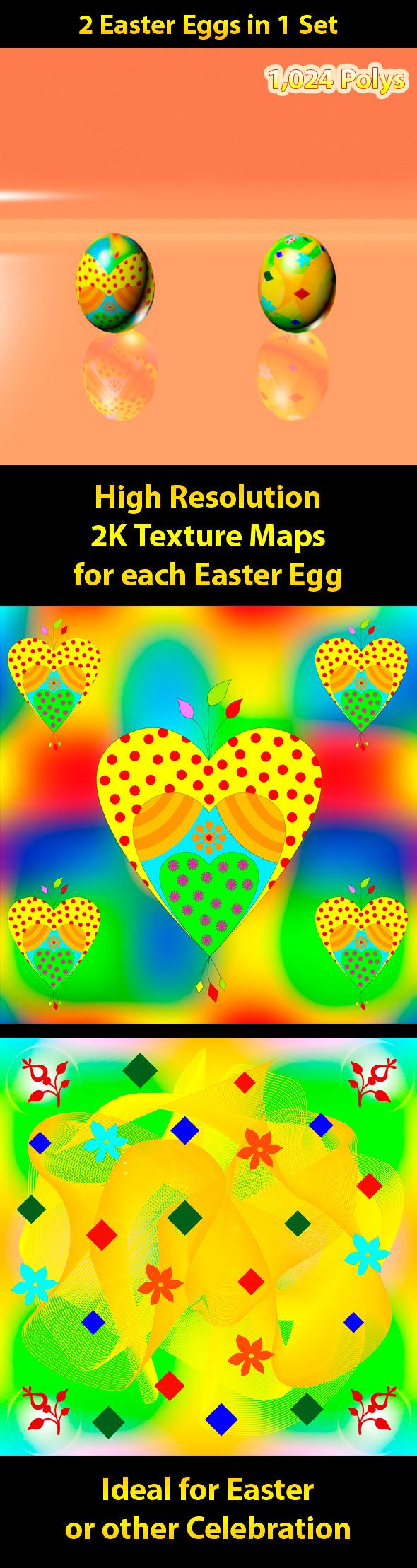 3DOcean Easter Eggs Set 07 2421265