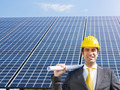 businessman and solar panels - PhotoDune Item for Sale