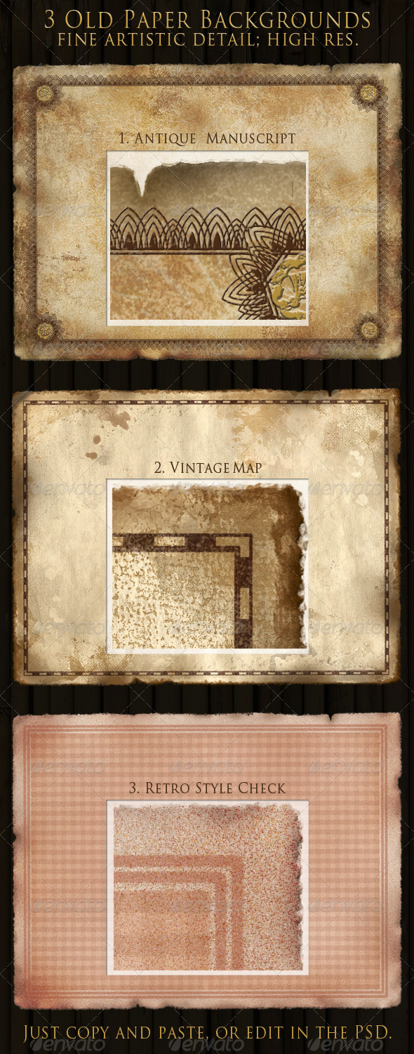 Antique, Vintage & Retro Paper Backgrounds - Backgrounds Decorative