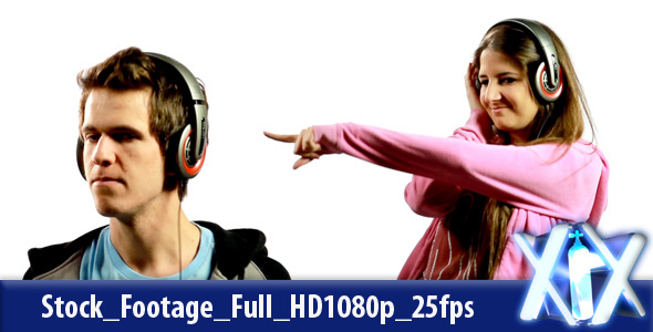 VideoHive Man And Woman Listening To Music 2421936