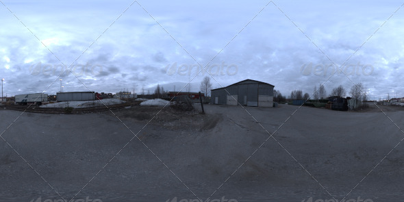 Industrial Area HDRI - Dusk Desolation - 3DOcean Item for Sale