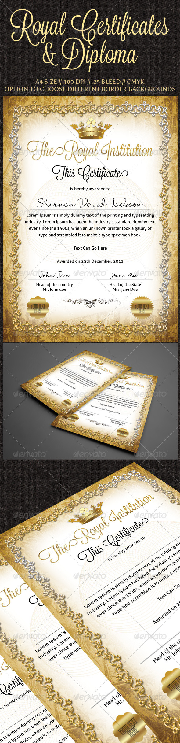 Royal Certificates - Certificates Stationery