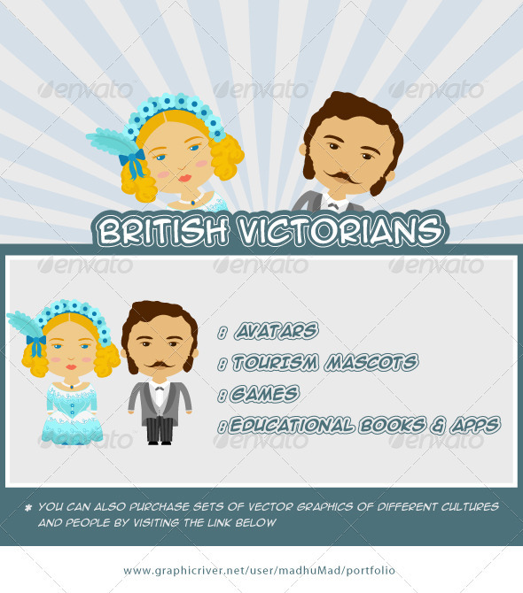 British Victorian Couple - People Characters