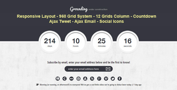 ThemeForest Grounding Under Construction Page 2393852