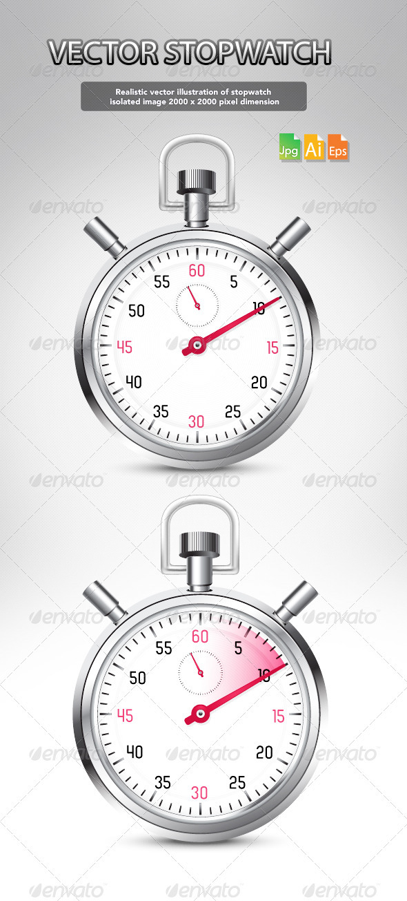 Vector stopwatch - Man-made objects Objects