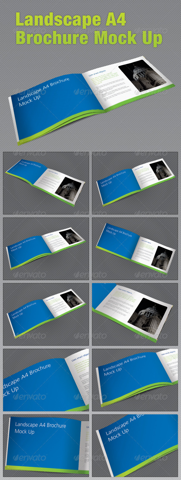 GraphicRiver Landscape A4 Brochure Mock Up 2427543