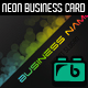 Neon Tech Business Card - GraphicRiver Item for Sale
