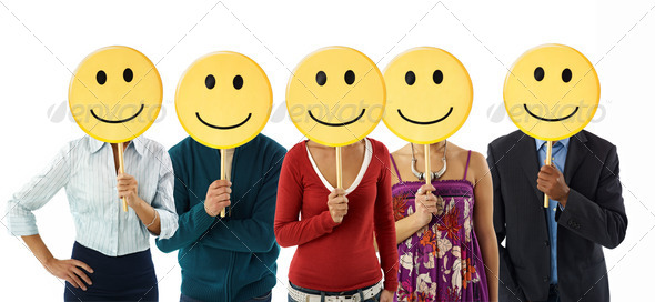 Stock Photo - PhotoDune business people with emoticon 272965
