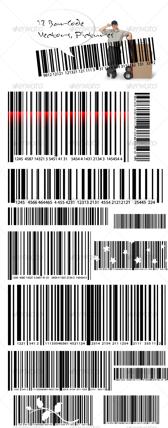 Vectors : Barcode Vectors & Transparent Pictures GraphicRiver 88663 - Conceptual Technology