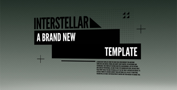 After Effects Project - VideoHive Interstellar 273057
