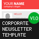 Corporate Newsletter Template V1  Free Download