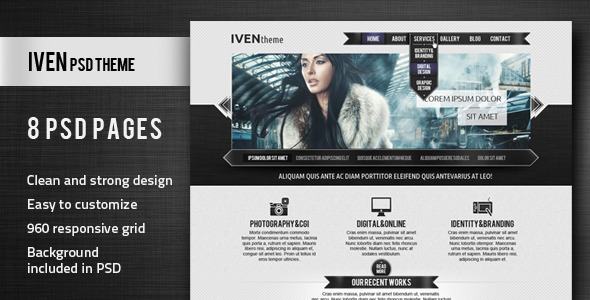 ThemeForest Iven PSD Theme 2433198