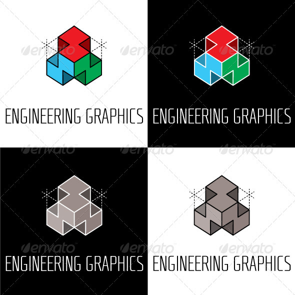 Engineering Graphics Logo - Objects Logo Templates