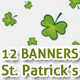 12 St Patricks attractive web banners - GraphicRiver Item for Sale