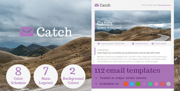 ThemeForest Catch Email Template 2433374