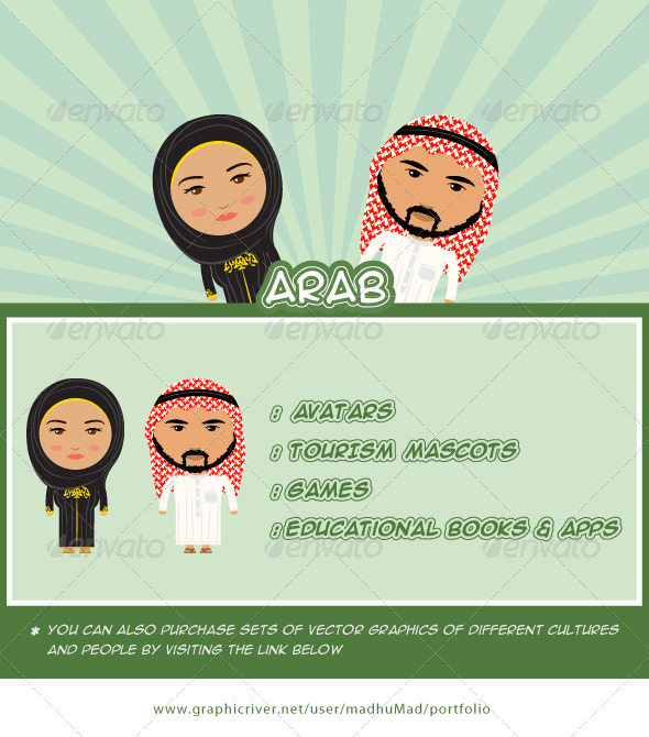 Arab Couple - People Characters
