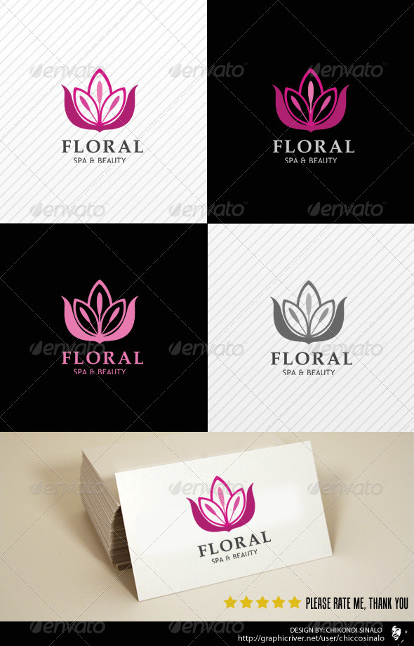 GraphicRiver Floral Beauty Spa Logo Template 2436615