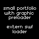 Small portfilio site with graphic preloader - ActiveDen Item for Sale