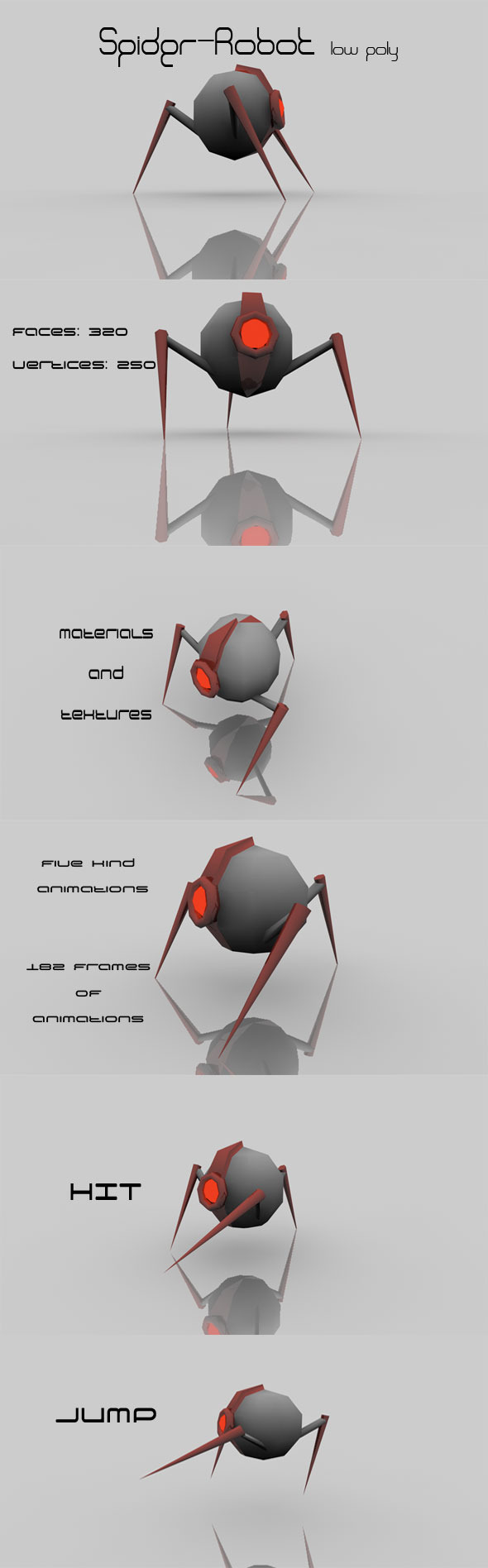 3DOcean Spider Robot low poly 2438069