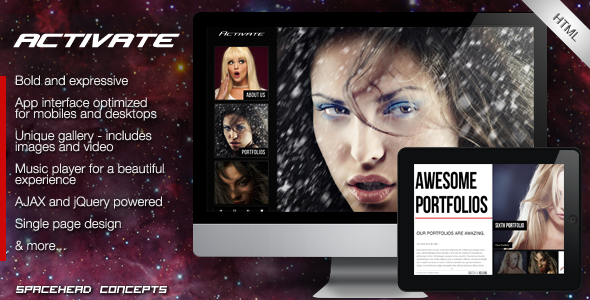 Activate - Creative HTML Template