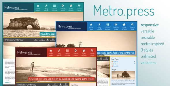 Metro.press - Expressive WordPress Theme - Creative WordPress
