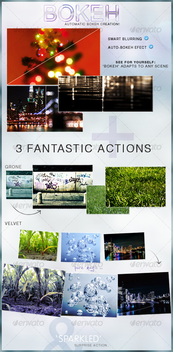 Bokeh Action + 3 Extras - Photo Effects Actions