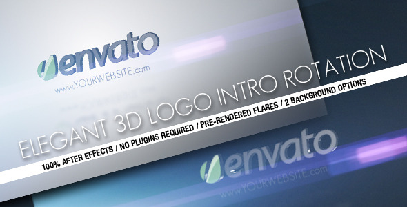 VideoHive Elegant 3D Logo Intro Rotation 2439861