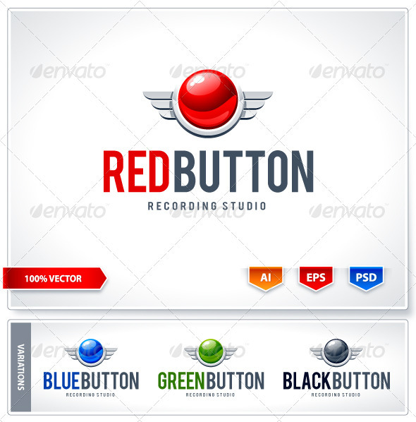 GraphicRiver Red button logo template 2440433