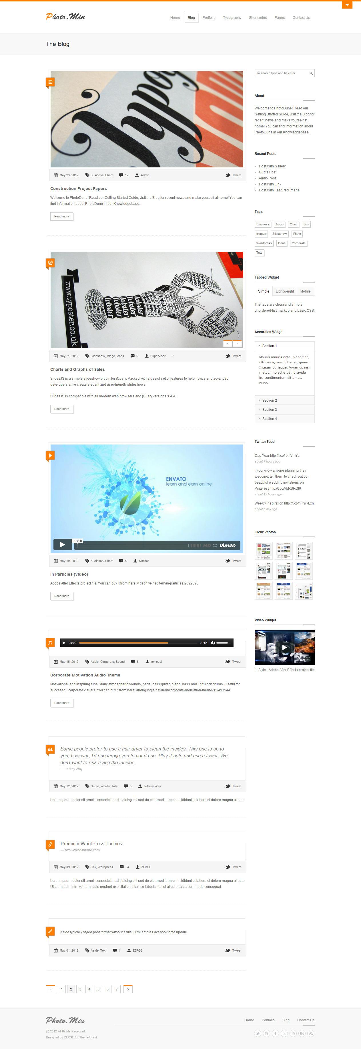 Photomin - Responsive HTML Template - Blog