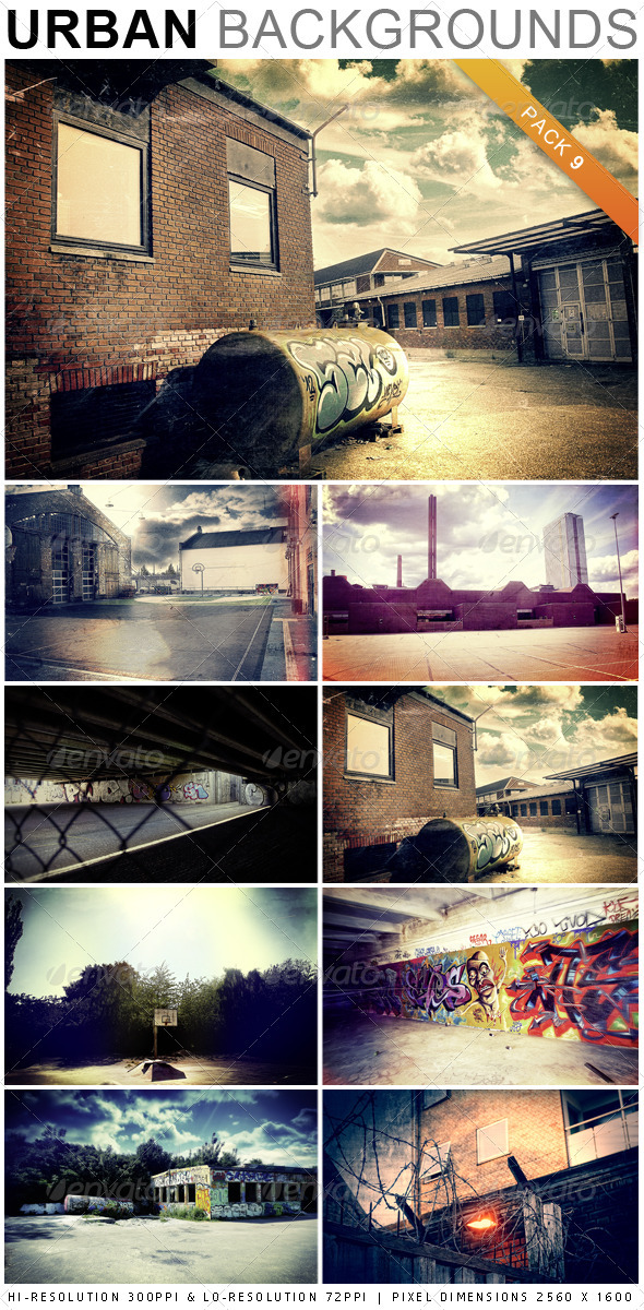GraphicRiver Urban Backgrounds Pack 9 2441331