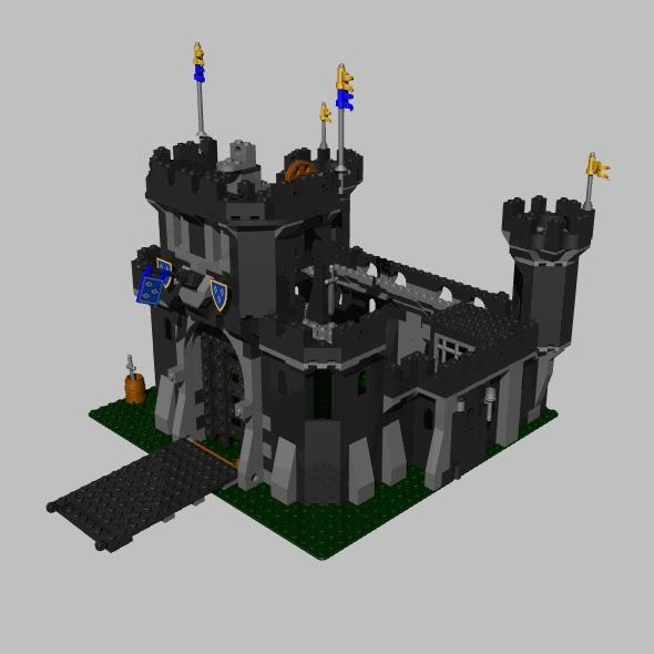 3DOcean LEGO black castle 89533