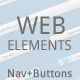 Awesome Navigation & Buttons Kit - GraphicRiver Item for Sale