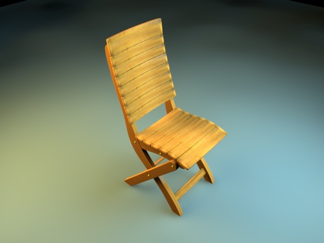 3DOcean Realistic Chair Model 2443165