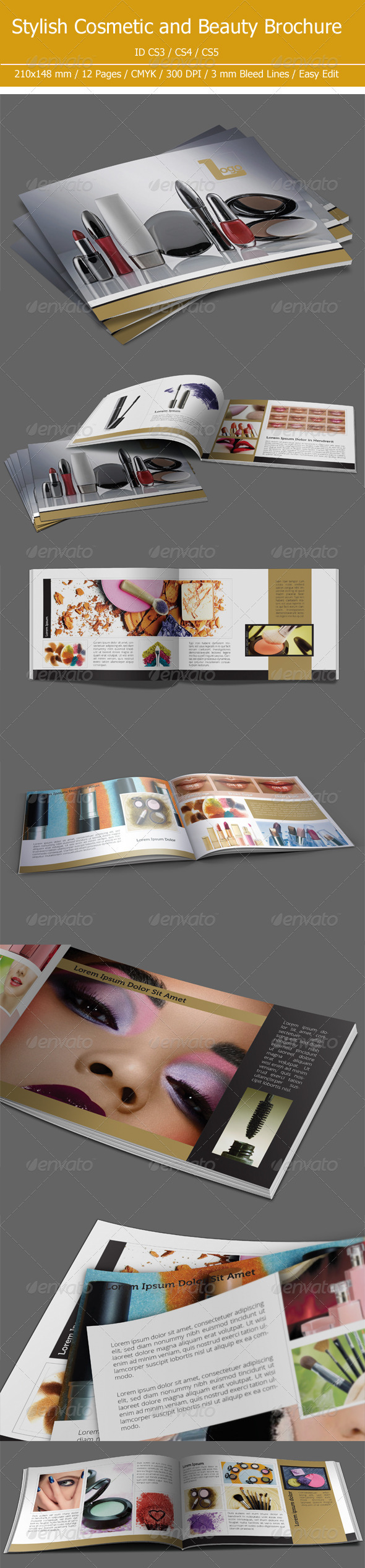 Cosmetic &amp; Beauty Brochure - Brochures Print Templates