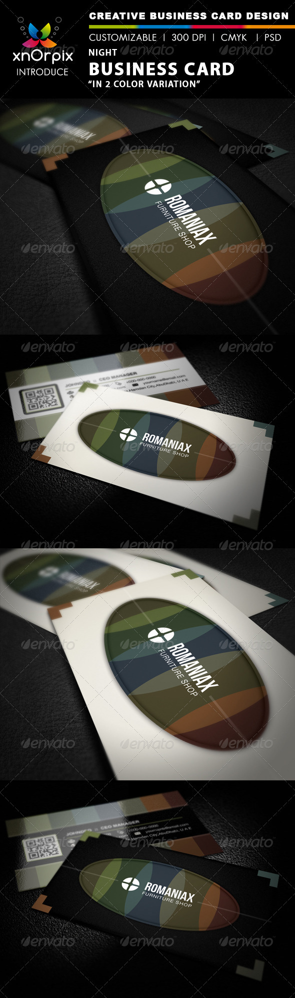Night Business Card - Corporate Business Cards