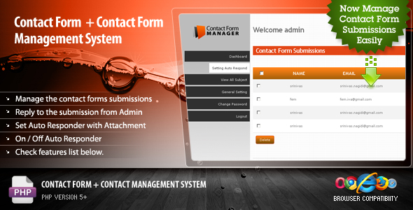 Contact Form + Contact Management System - CodeCanyon Item for Sale
