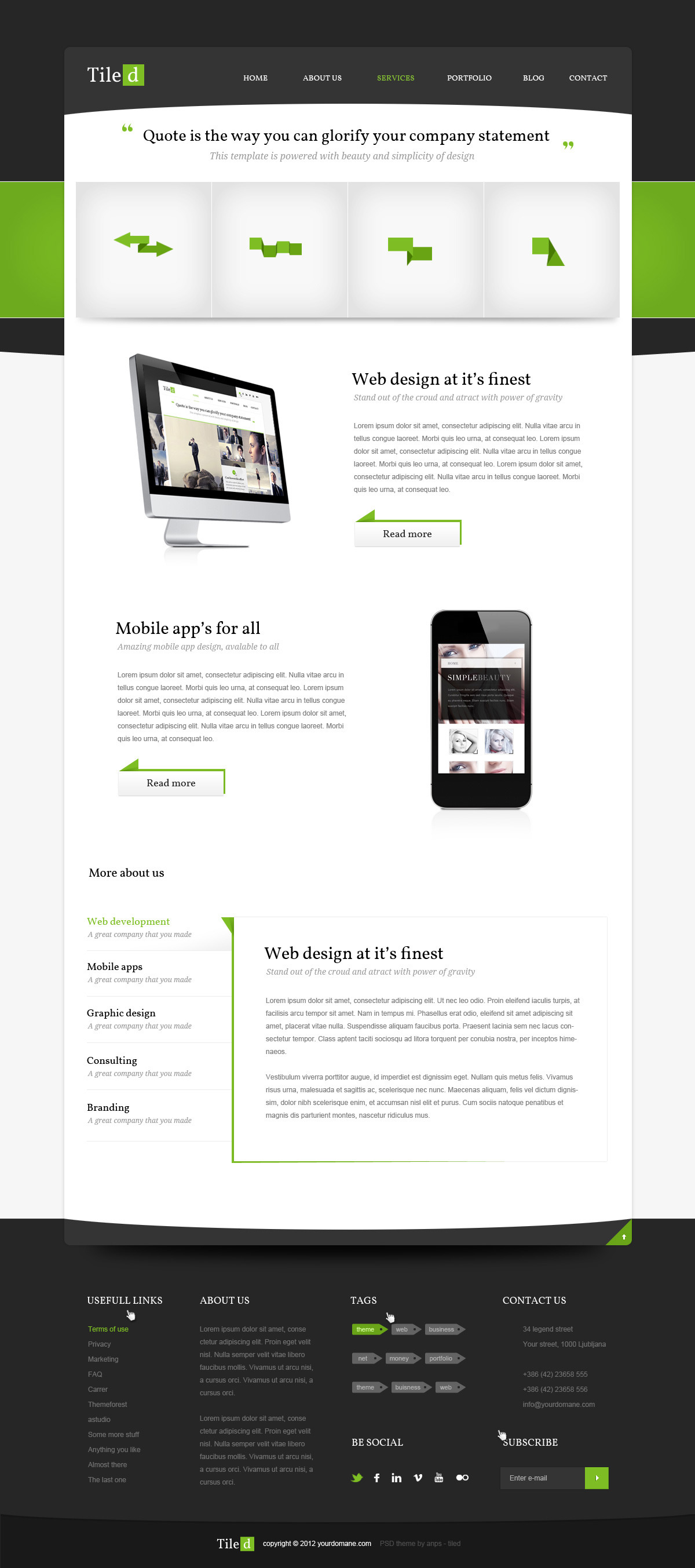 Tiled - Multipurpose PSD Theme