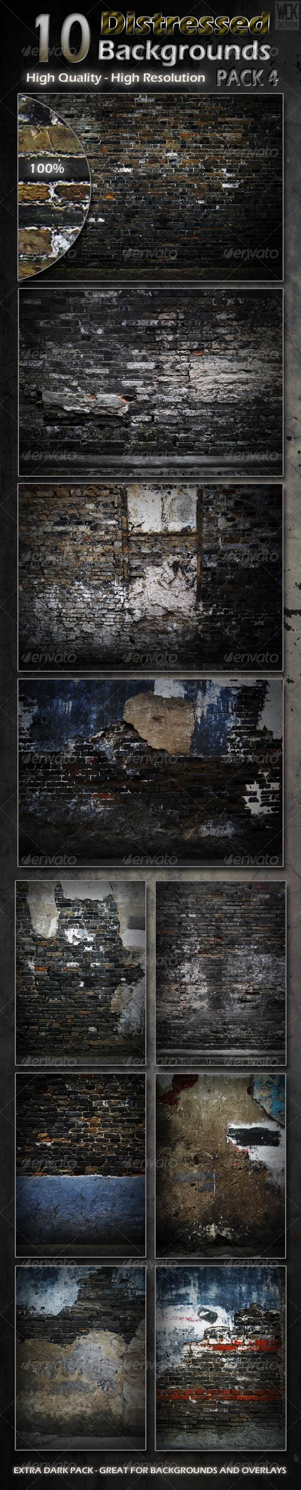 Distressed Background Textures - Industrial / Grunge Textures