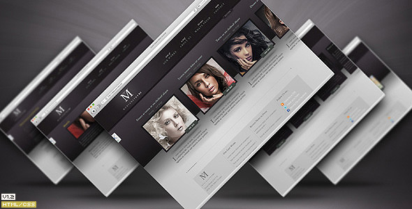 Montana Theme - Horizontal Portfolio Template - Preview image