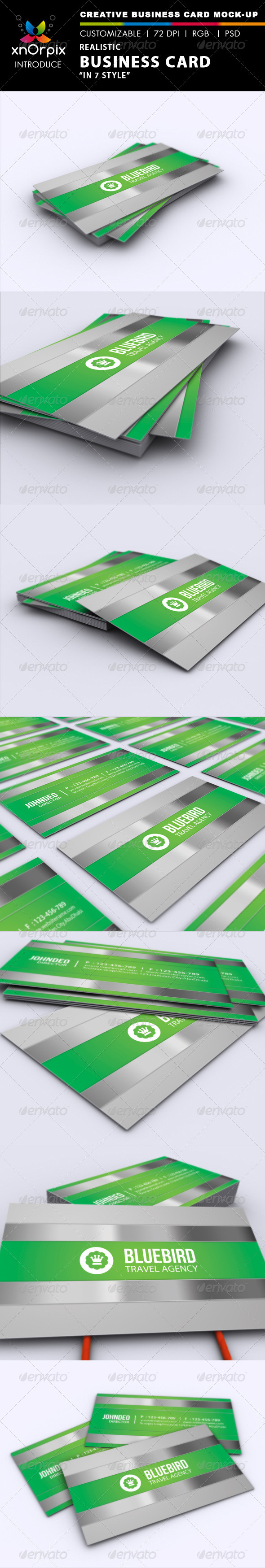 GraphicRiver Realistic Business Card Mock-up 2452233
